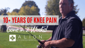Meridian Chiropractor fixes knee pain