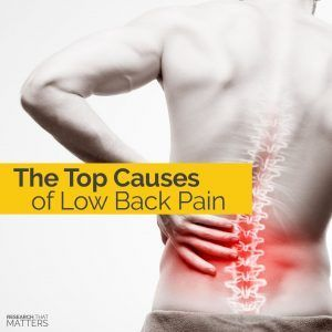 The Top Causes of Low Back Pain